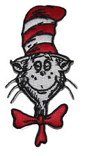 """Cat in The Hat 3.5"""" Tall Dr. Seuss Embroidered Patch"""