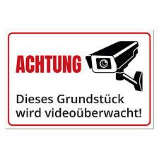 Schild Videoüberwachung, Grundstück wird videoüberwacht, Aluminium, UV beständig