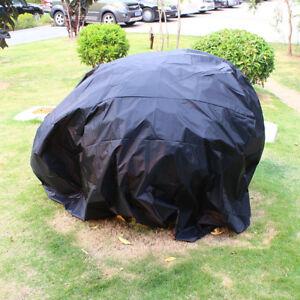 schwarz Motorrad Abdeckplane Cover Abdeckplane Motorradgarage Motorradabdeckung