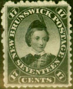 New Brunswick 1860 17c Black SG19 Fine Mtd Mint