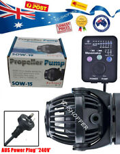 JEBAO SOW-15 Wireless Wave Maker Pump Marine Reef Aquarium + OZ Plug Controller