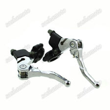 "7/8"" Folding Clutch & Brake Lever For Drum Brake Honda Motorcycle ATC Quad ATV"