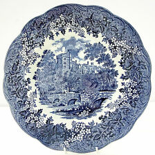 Vintage JG Meakin Romantic England Blue White Haddon Hall Dinner Plate