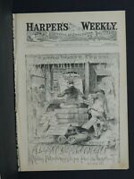 Harper's Weekly Cover Page AA731 Croton Water Frauds-A Leaky Department-Oct 1883