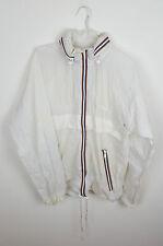 VINTAGE Festival Sportswear ZIPUP Athletic Unisex Pioggia MAC Cappotto Cagoule Impermeabile S