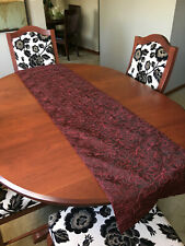 "Beautiful Maroon Decorative Table Runner 68"" x 16"""