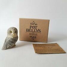 Harmony Kingdom Ball Pot Bellys Great Gray Owl Miniature Figurine #Pbzow14