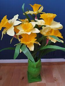 ARTIFICIAL SILK FLOWERS SPRING YELLOW DAFFODILS BUNCH