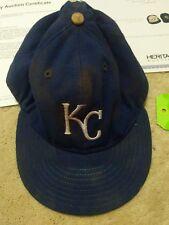 Rare 1985 Daryl Motley Signed Game Used Kansas City Royals Baseball Hat Cap