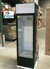New 72 Glass Door Refrigerator Merchandiser Slim Compact Design Display Nsf