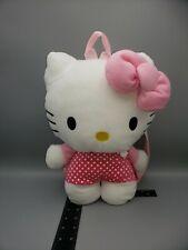 2012 Hello Kitty Plush Backpack - Cute Zipper Back Pack Plush