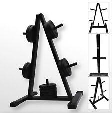 "BodyRip 1"" Standard Weight Barbell Disc Plate Rack Stand Holder Tree Gym Storage"