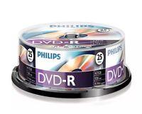Brand New: 250 x Philips DVD-R 120 Mins 4.7GB 16x Speed Recordable Discs