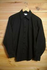 "YSL Yves Saint Laurent Shirt Black 15 1/2"" Collar Single Pocket"