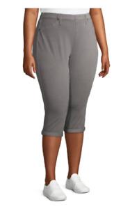 Terra & Sky 3X, 4X, 5X Denim Grey Capri Jeggings Jeans Cotton Blend