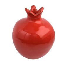 """Decorative Ceramic Red Pomegranate Fruit Figurine Hand Made Symbol Souvenir 3.6"""""""
