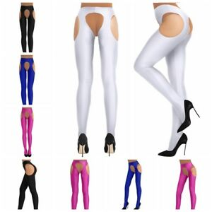 Spandex Women Lingerie Open Crotch Long Stockings Suspender Pantyhose Tights
