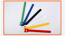 1 Pack of 12 Hook & Loop Magic Cable Ties Reusable Velcro Coded Organiser Cords