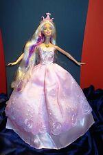 Barbie pink princess doll,OOAK, mermaid head/barbie body , tiara, gown, shoes