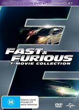 FAST and FURIOUS 1 - 7 Movie Collection : NEW DVD