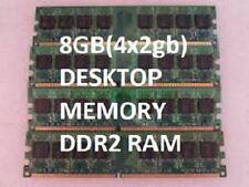 8GB PC2-6400 DDR2 DESKTOP RAM MEMORY 4x 2gb 800mhz 240 PC DELL 760 960 HP a6700y
