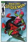 Mike McKone SIGNED Marvel Comics Amazing Spiderman vs Green Goblin Art Print
