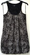 AX Paris – sleeveless leopard pattern bubble dress – size 10
