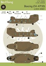 Bestfong Decal 1/144 CH-47SD R.O.C. (Taiwan) Army