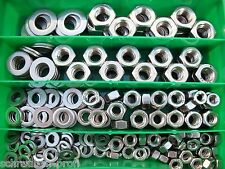 200 Teile ACCIAIO INOX V2A RONDELLE DADI SCATOLA M6 - M12 SCORTA inossidabile
