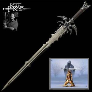 "Vorthelok Dark Edition Fantasy 45"" Sword by Kit Rae COA Collectible"