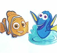 Dory Nemo Disney Fish Iron or Sew Embroidered Childrens Motif Patch Applique.