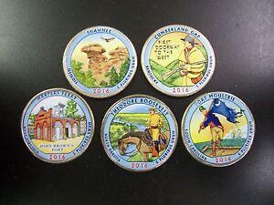 2016 Complete Set of National Parks Colorized Quarters