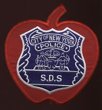 New York Police Department NYPD SDS Detective Supervisor Red Apple Patch RARE!!