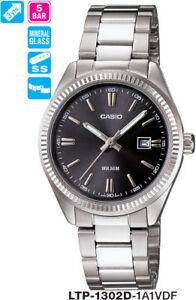 CASIO WATCH LTP-1302D-1A1V LTP1302 50-METRES 12 MONTH WARNTY