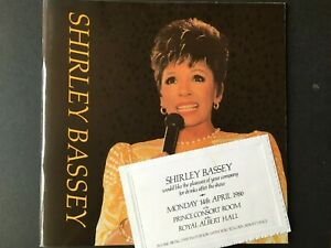 SHIRLEY BASSEY - 1986 Royal Albert Hall Drinks Invite + World Tour Programme
