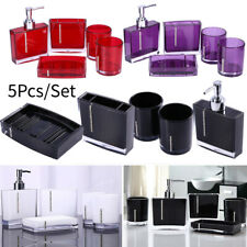 Bathroom Accessories Set Gargle Cup Toothbrush Holder Soap Dish Lotion Dispenser