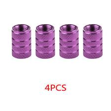 4x Purple Car Wheel Tire Valve Cap Accessories Aluminum Airtight Stem Air Caps
