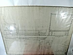 The CHICAGO MILWAUKEE and ST. PAUL Railway Blueprint Dining Room 1889