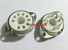 4pcs 9pin B9D ceramic tube socket for EL519 EL504 PL519 Chassis Mount