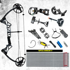 TOPOINT M1 15-70LB COMPOUND BOW & ARROW HUNTING TARGET ARCHERY CNC DUAL CAM HEI