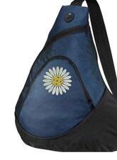 Pickleball Paddle Sling Bag - Daisy ball - Embroidered Navy Bag - FREE NAME