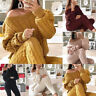 Womens Matching Sets Outfit Knit Sweater Tops and Pant Suit Two Piece Set