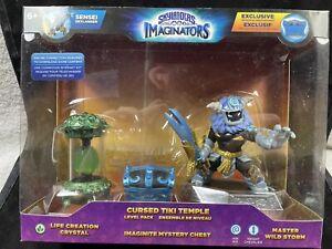Skylanders Imaginators MASTER WILD STORM Cursed Tiki Temple Level Pack NIB