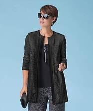 Damart Lace Jacket.  Black.  Size 14UK.  SA077  QQ 03