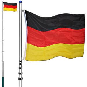 Fahnenmast Alu Teleskop 6,30m Fahnenstange Deutschlandfahne Flaggenmast Mast