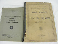 manuel descripif frein westinghouse chemin de fer belge 1930