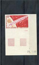 SENEGAL Sc C44(CE A48b)**VF NH 1966 50F IMPERF TRIAL PROOF, CERISE, REDS $75