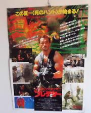 Arnold Schwarzenegger PREDATOR movie original  B2 POSTER JAPAN