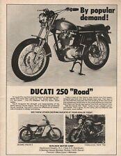 """1972 Ducati 250 """"Road"""" - Vintage Motorcycle Ad"""