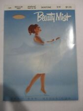 1Pr Vintage Beauty Mist Rht Flat Knit Sheer Nylon Stockings Size 9 Med Beige